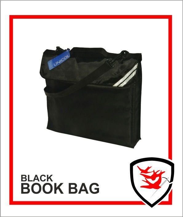 Expandable Book Bag Black
