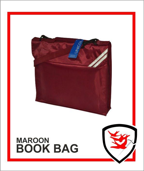 Expandable Book Bag Maroon