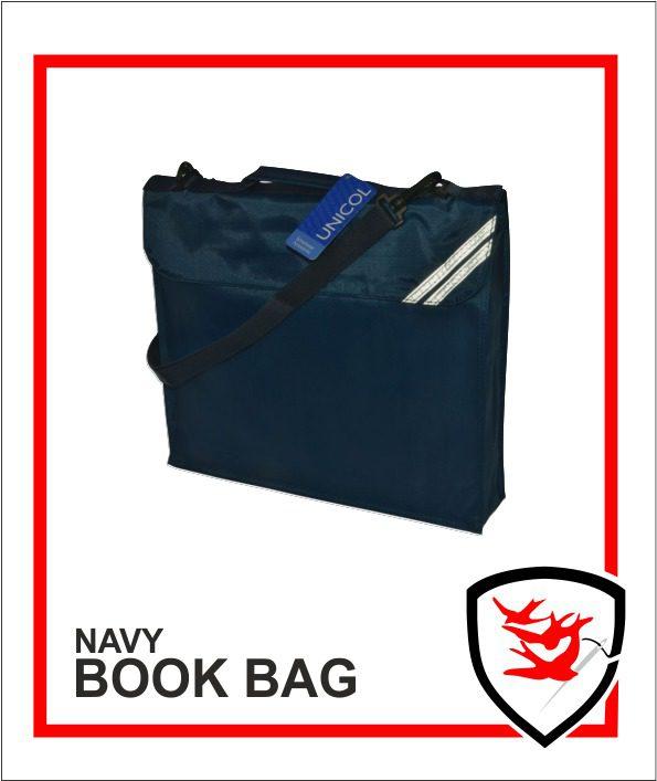 Expandable Book Bag Navy
