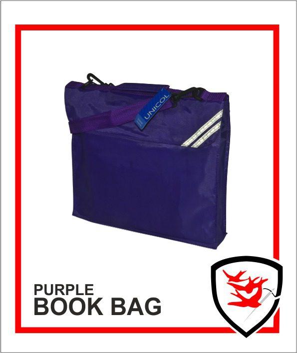 Expandable Book Bag Purple