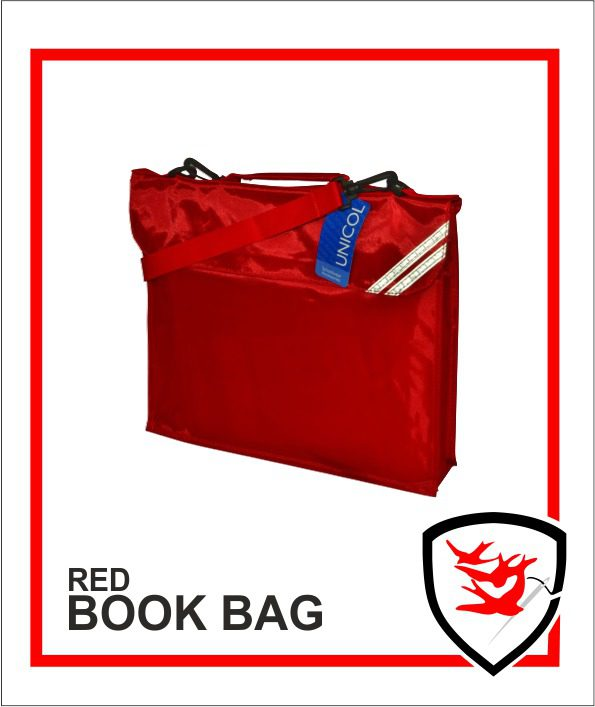 Expandable Book Bag Red