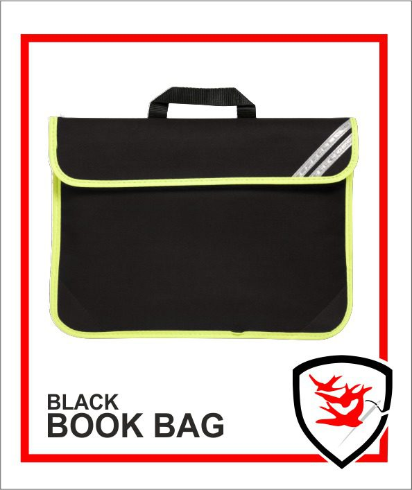 Hi Vis Book Bag Black