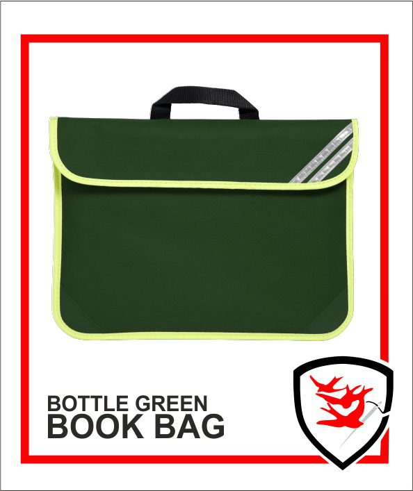 Hi Vis Book Bag Bottle green