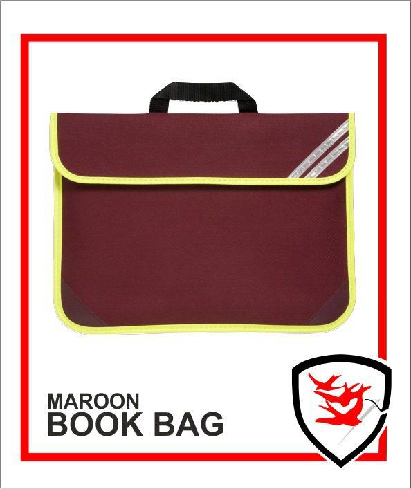Hi Vis Book Bag Maroon