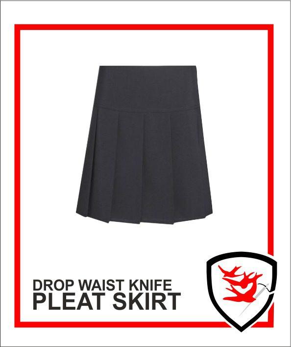 Drop waist Knife Pleat Skirt