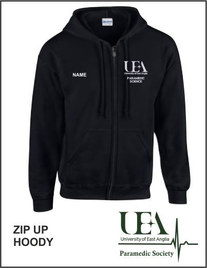Zip Up Hoody Black