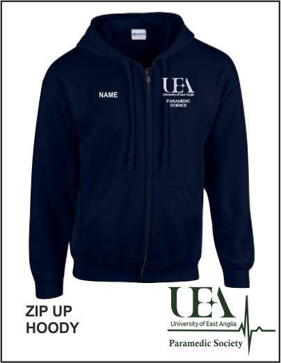 Zip Up Hoody Navy
