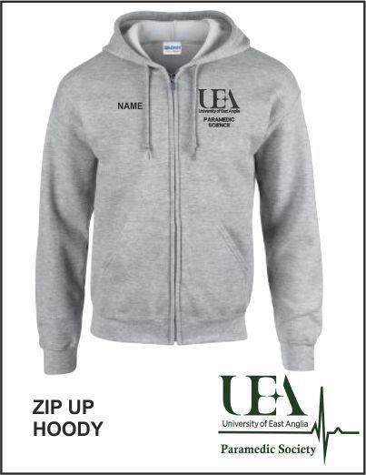 Zip Up Hoody Sport Grey