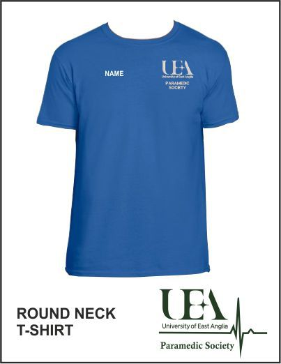 Round Neck T Shirt Royal