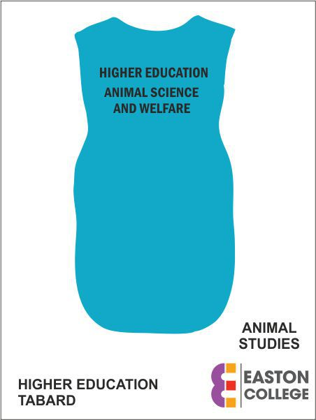Higher Education Animal Science And Welfare Tabard Back