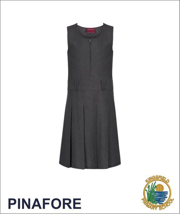 Zip Pinafore Dress