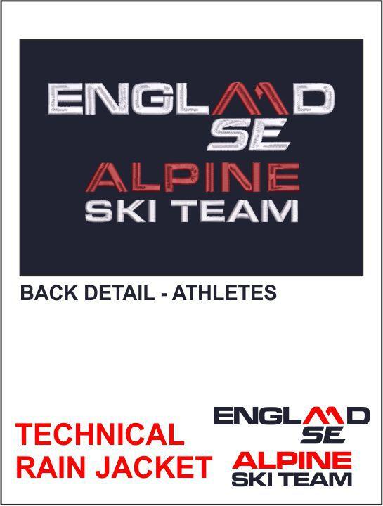 Technical Rain Jacket Back Detail Athletes