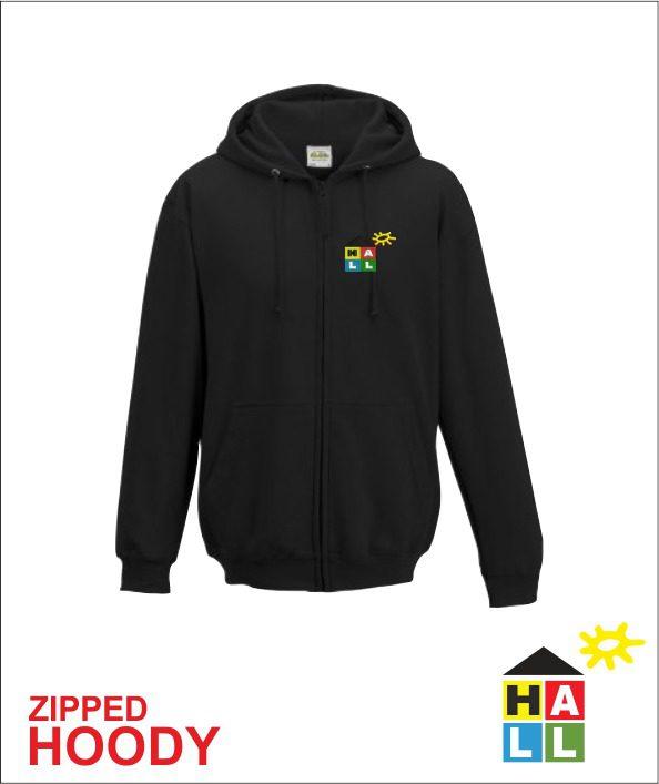 Zip up Hoodie - Black