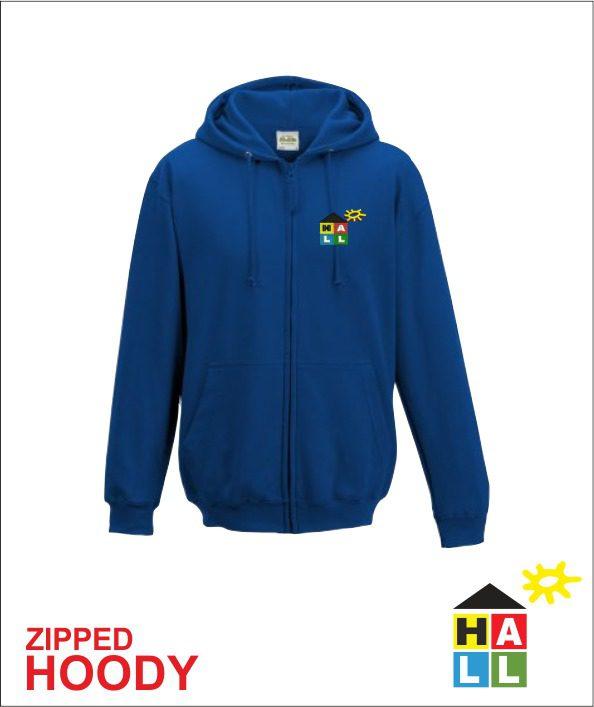 Zip Up Hoodie - Royal