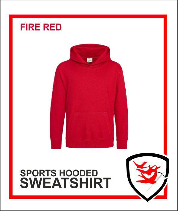 Hooded Sweatshirt Fire Red