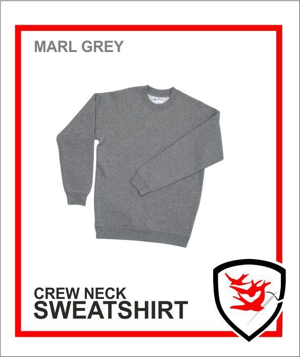 Crew Neck Marl Grey