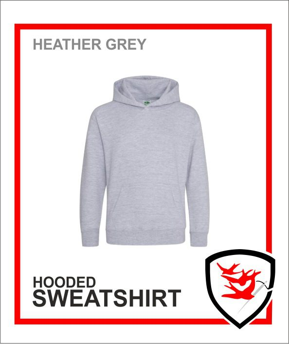 Hooded Sweatshirt Heather Grey