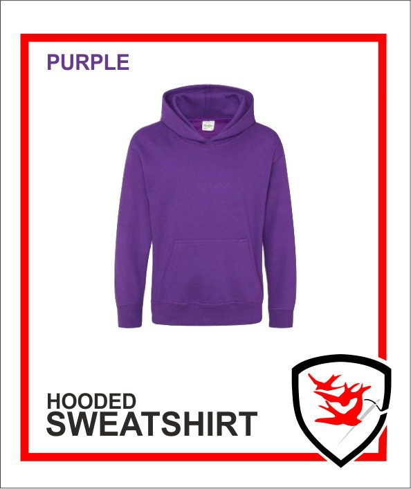 Hooded Sweatshirt Purple