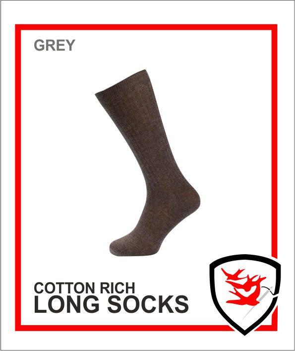 Cotton Rich Socks - Grey