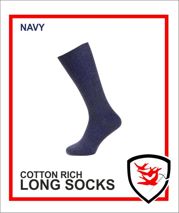 Cotton Rich Socks - Navy