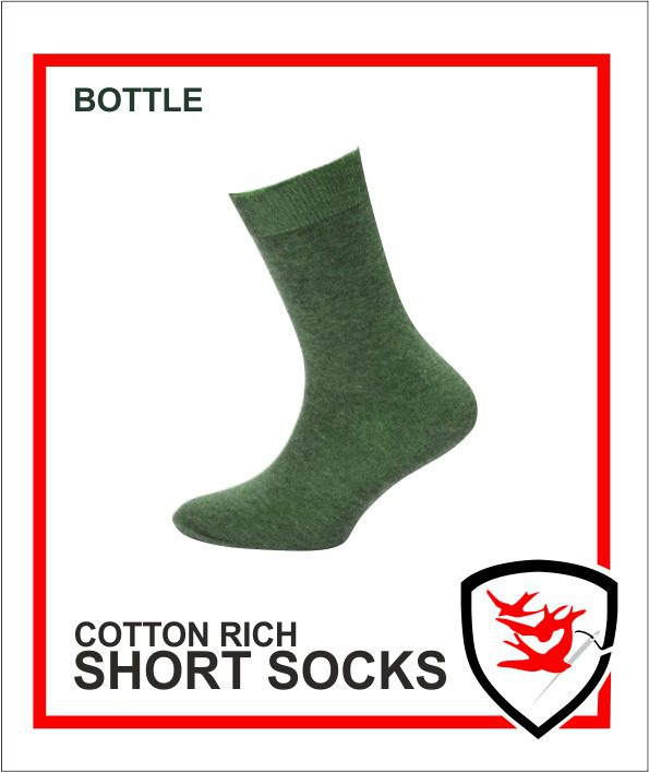 Cotton Rich Short Socks - Bottle