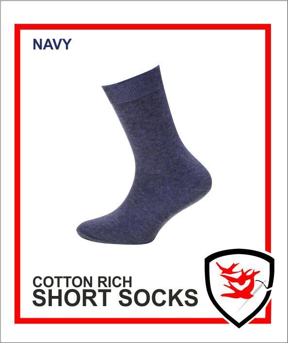 Cotton Rich Short Socks - Navy