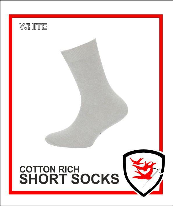 Cotton Rich Short Socks - White