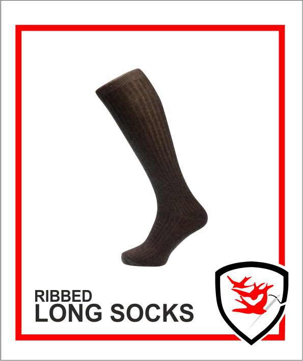 Ribbed Long Socks