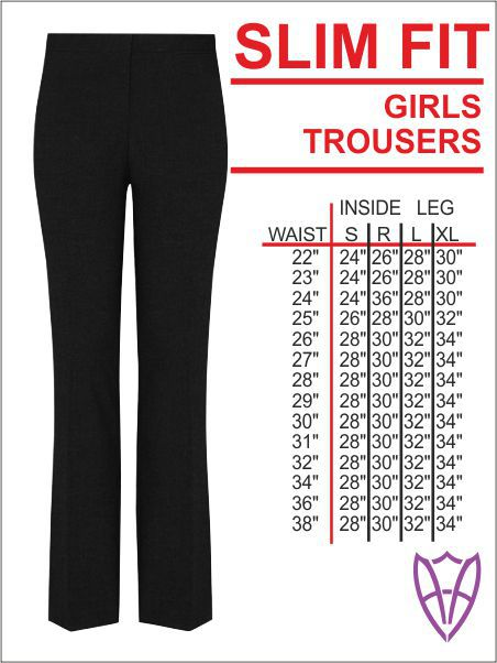 Girls Slim Trouser
