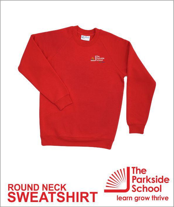 Round Neck Sweathsirt Red