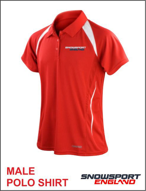 Polo Red White Mens
