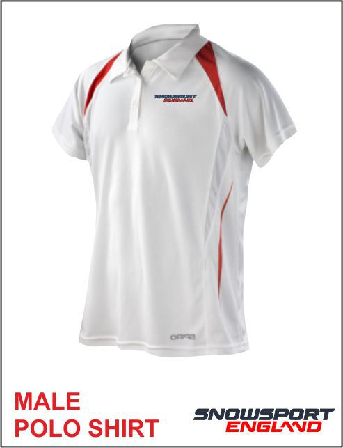 Polo White Red Mens