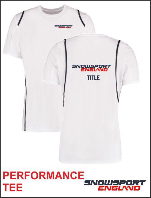 Performance Tee White Navy