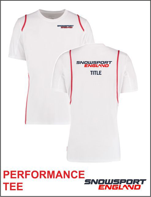 Performance Tee White Red