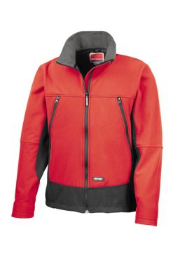 Softshell Red Jacket (zip) Warehouse Issue Only