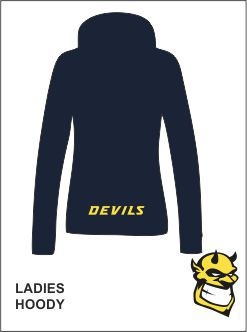 Ladies Hoody Back